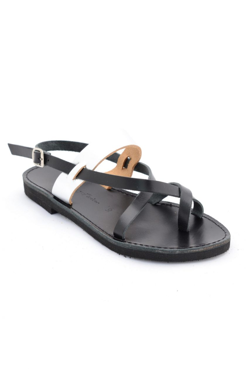 Griechische Sandalen FUNKY PEOPLE, schwarz