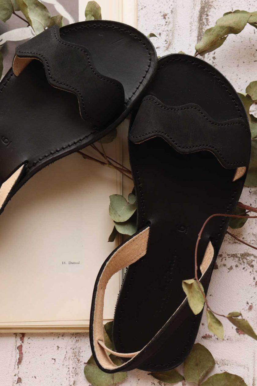 Echtleder Damen Sandalen FUNKY VIBE, schwarz