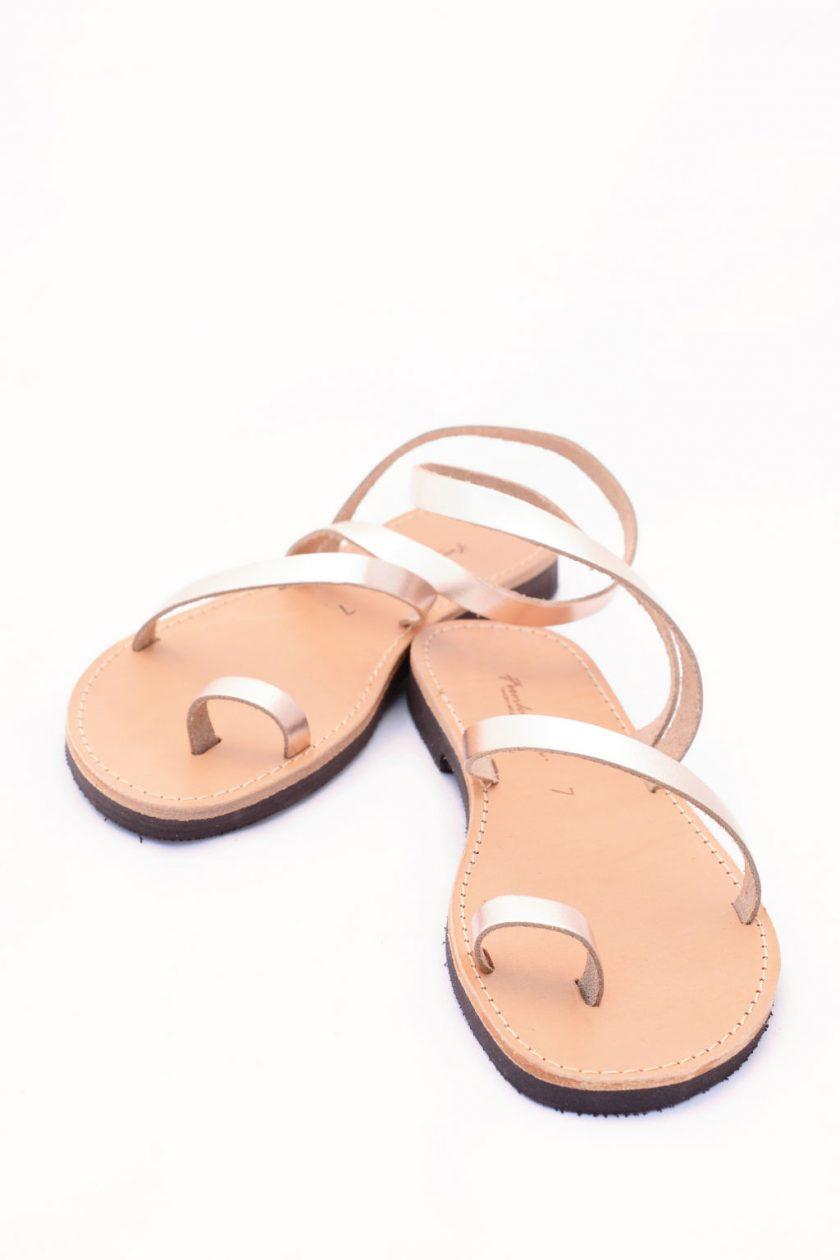 Echtleder flache Sandalen FUNKY DAY, bronze