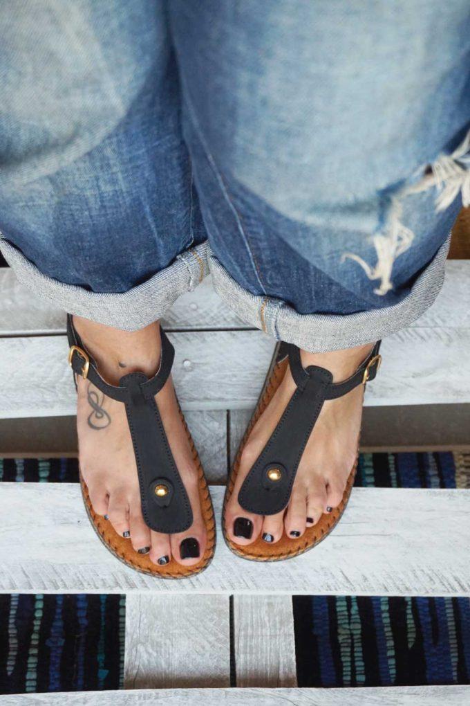 Anatomische Sandalen FUNKY COMFY, schwarz