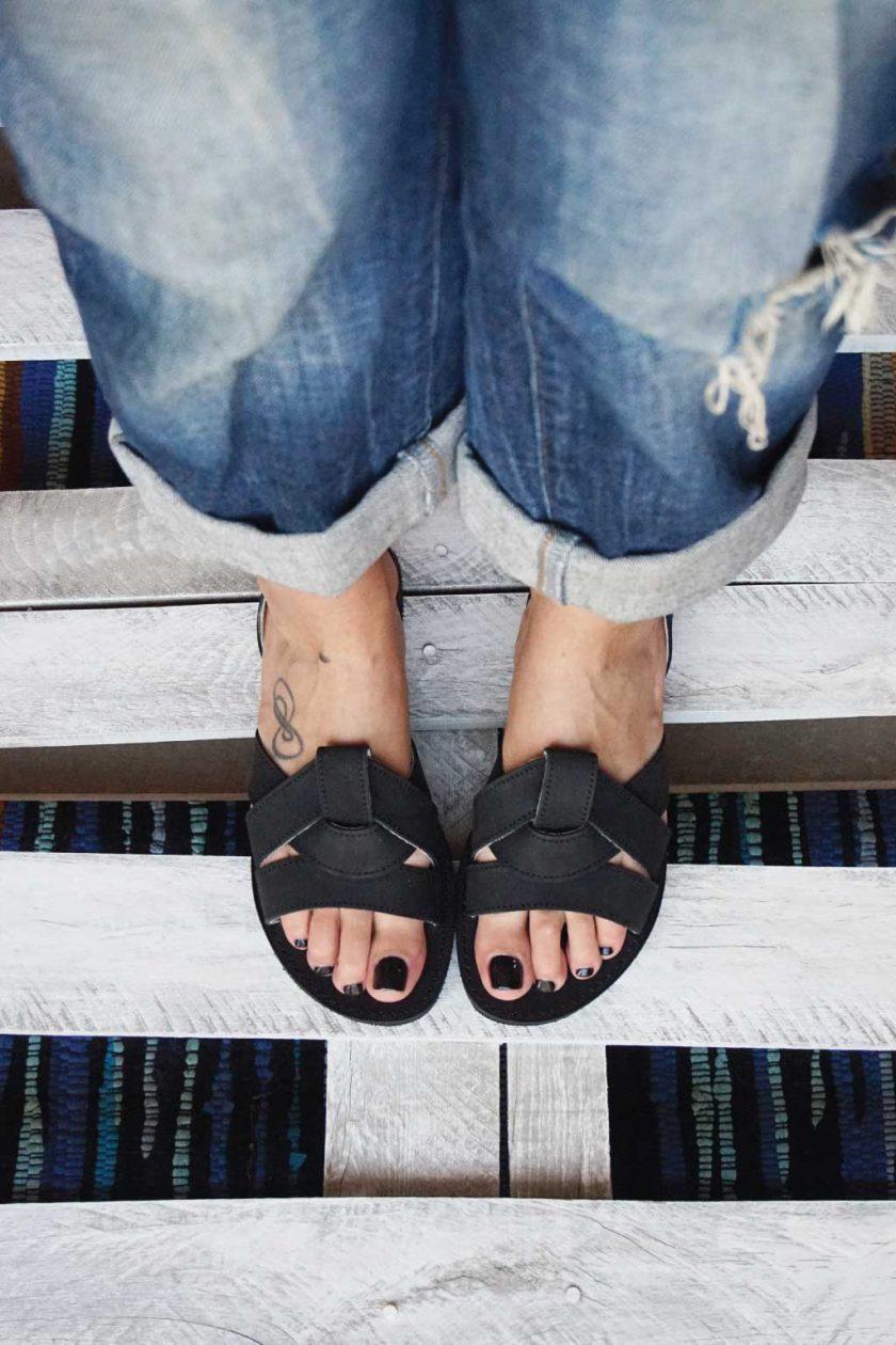 Damen Sandalen FUNKY CITY, schwarz