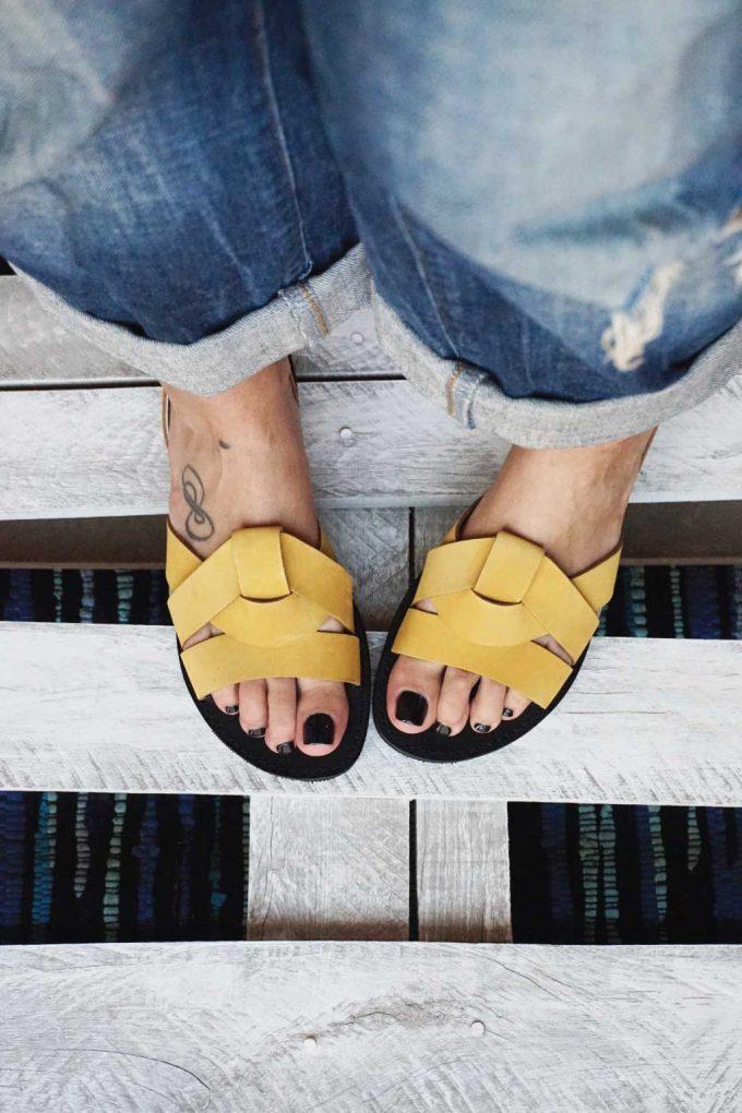 Damen Sandalen FUNKY CITY, senffarben – gelb