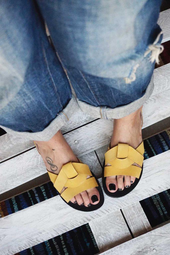 Damen Sandalen FUNKY CITY, senffarben - gelb