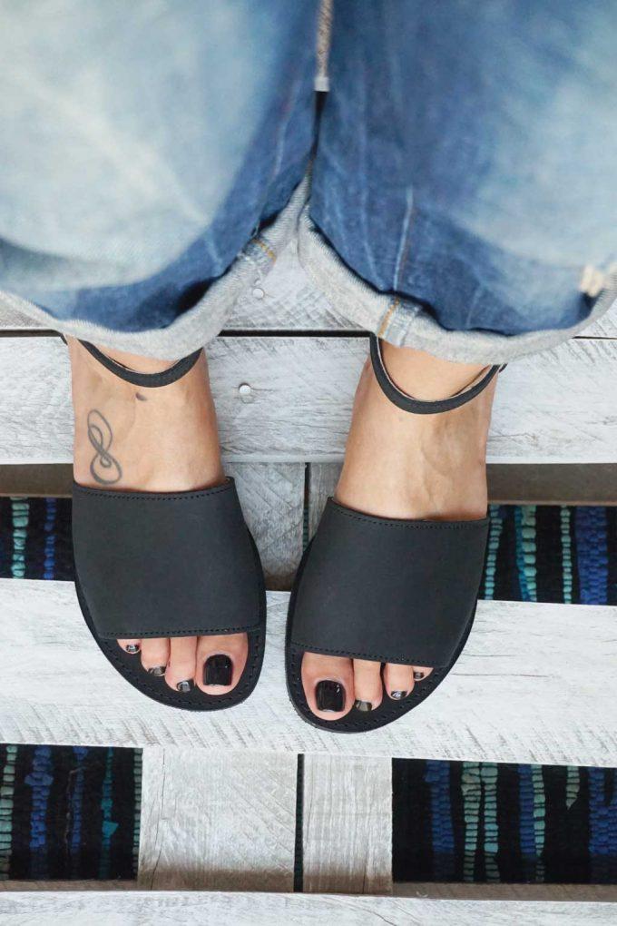 Damen Sandalen FUNKY WOMAN, schwarz