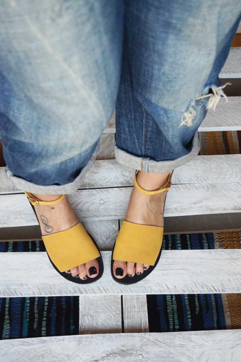 Damen Sandalen FUNKY WOMAN, senffarben – gelb