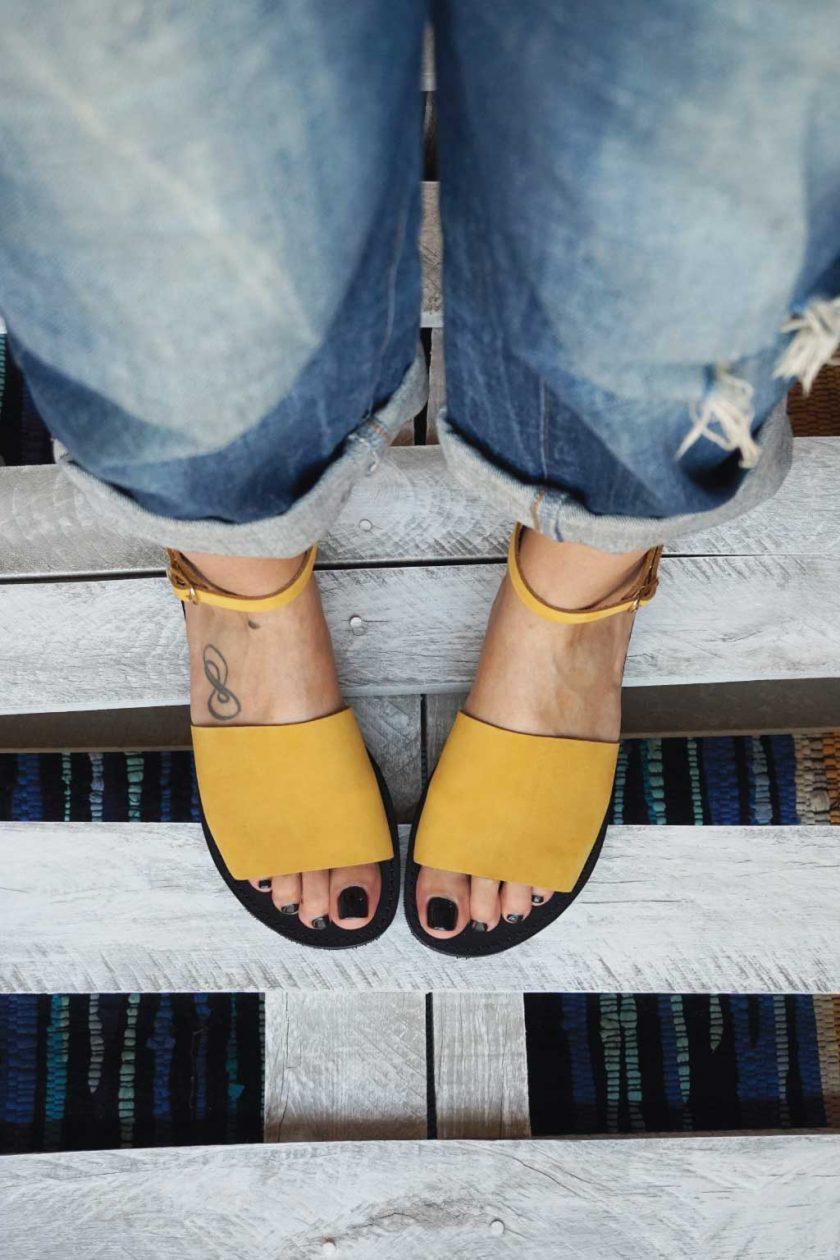 Damen Sandalen FUNKY WOMAN, senffarben - gelb