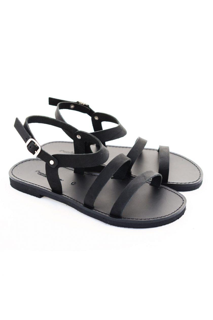 Flache Sandalen FUNKY CHIC, schwarz
