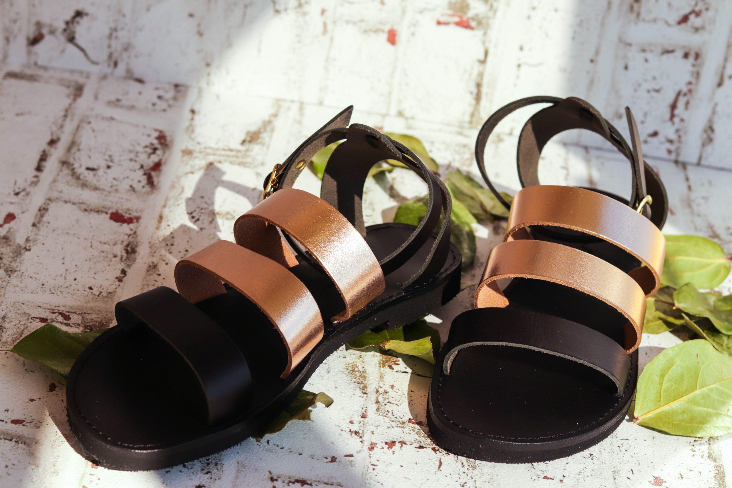 Flache Sandalen FUNKY MUM, bronze
