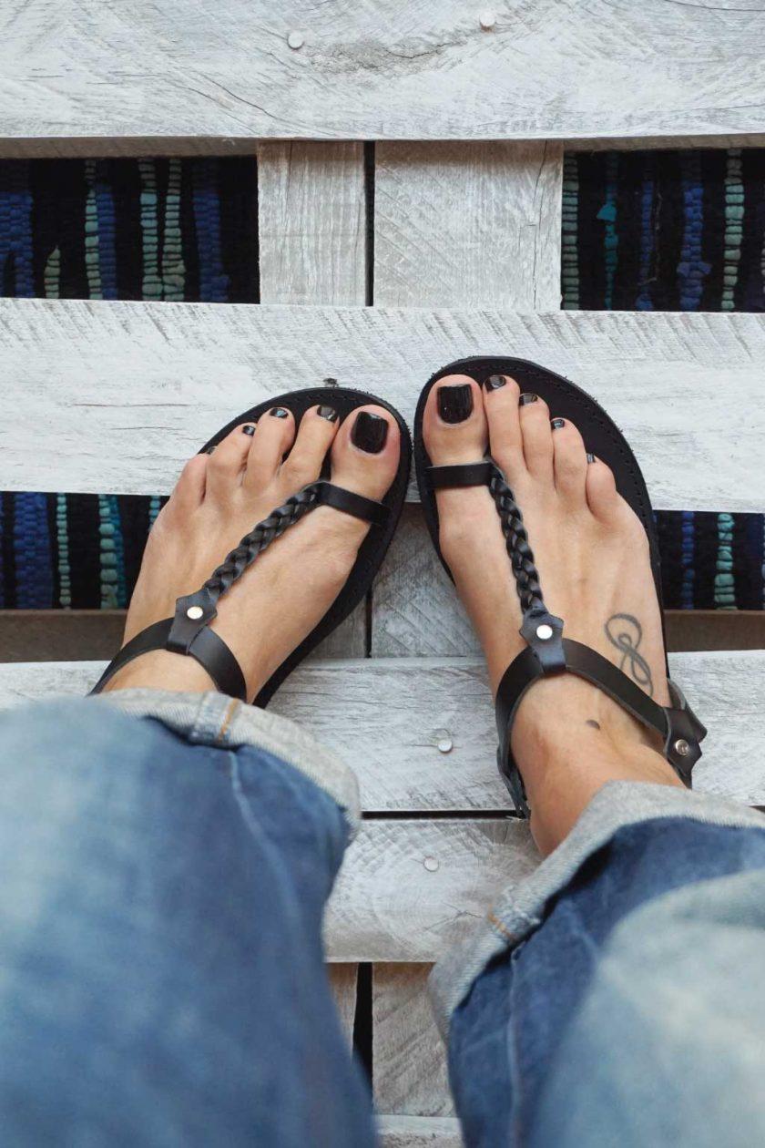 Griechische Sandalen FUNKY LOOKS, schwarz